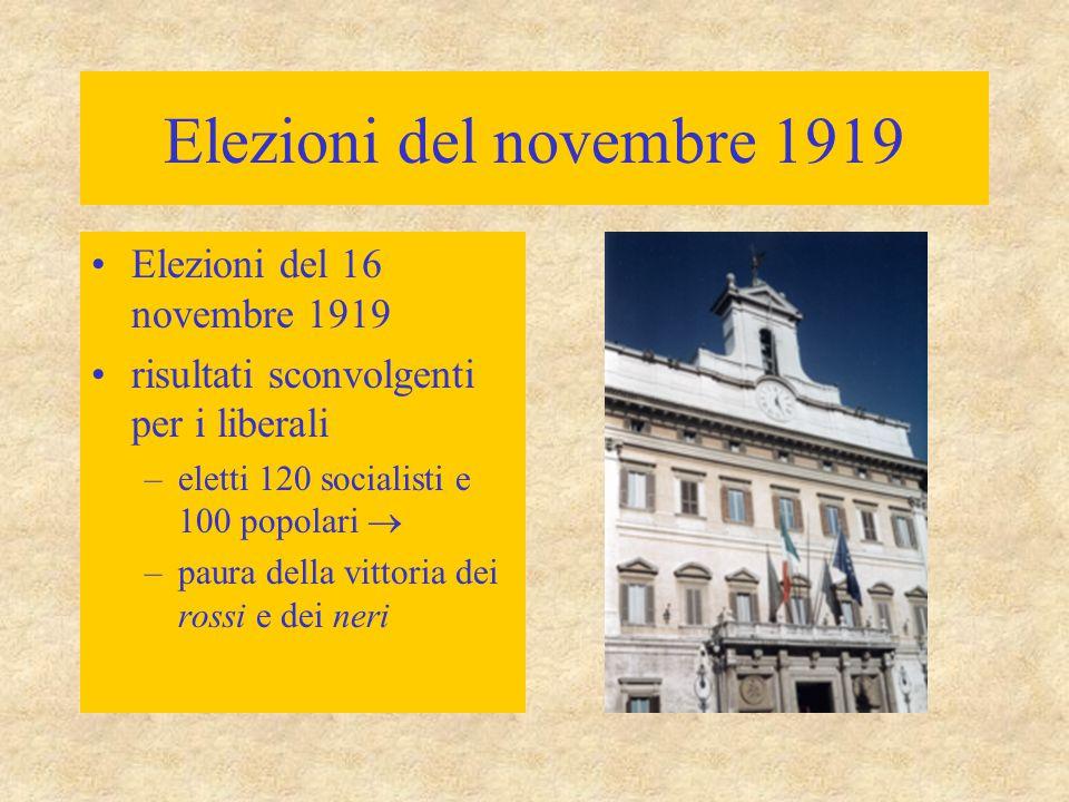 Elezioni del novembre 1919 Elezioni del 16 novembre 1919