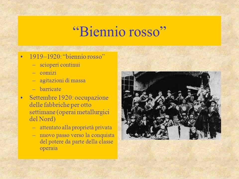 Biennio rosso 1919–1920: biennio rosso