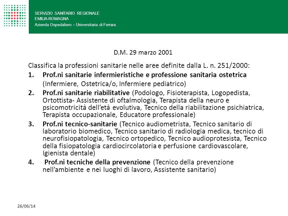 (Infermiere, Ostetrica/o, Infermiere pediatrico)