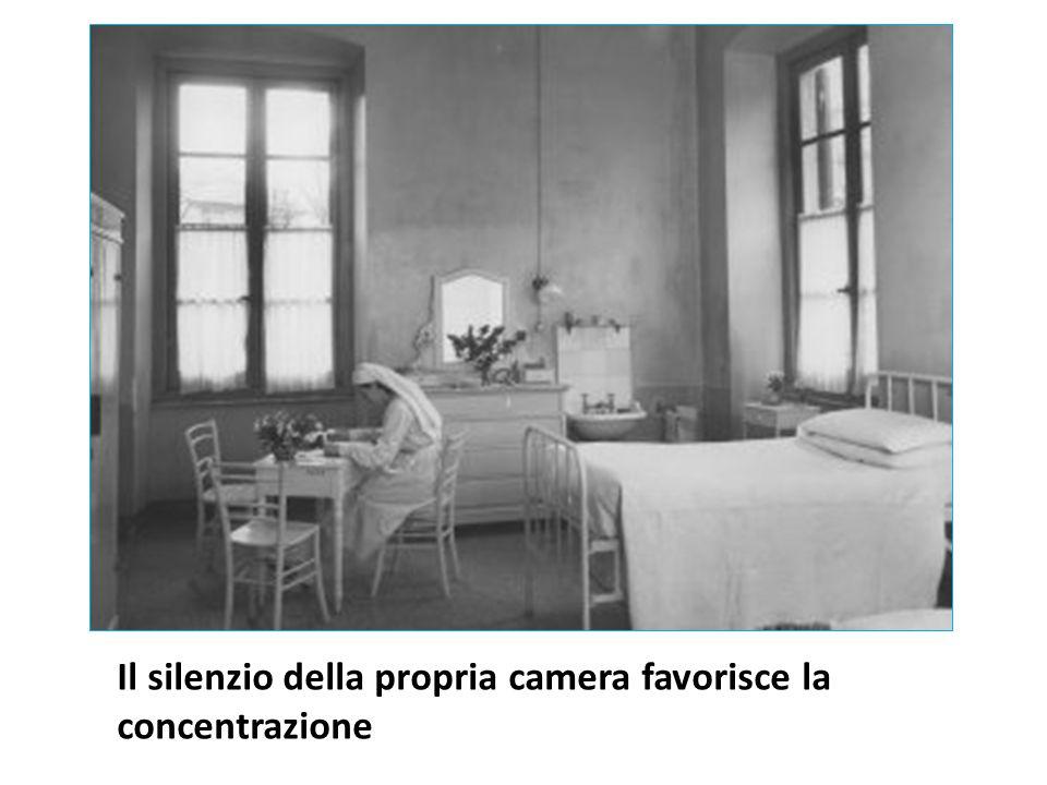 Il silenzio della propria camera favorisce la concentrazione