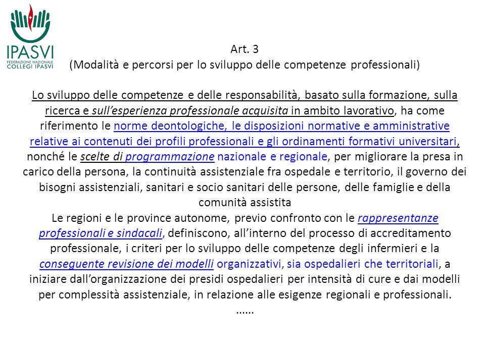 (Modalità e percorsi per lo sviluppo delle competenze professionali)