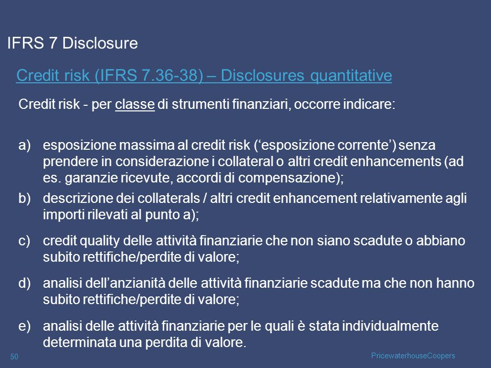 Credit risk (IFRS 7.36-38) – Disclosures quantitative