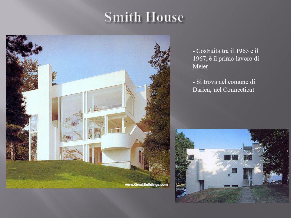 Smith House - Costruita tra il 1965 e il 1967, è il primo lavoro di Meier.