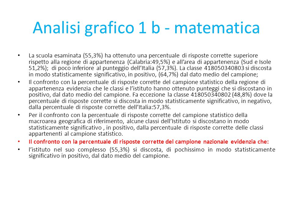 Analisi grafico 1 b - matematica