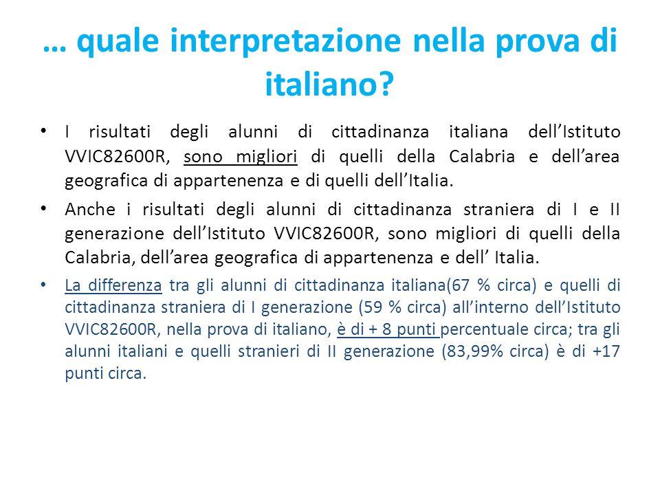 … quale interpretazione nella prova di italiano