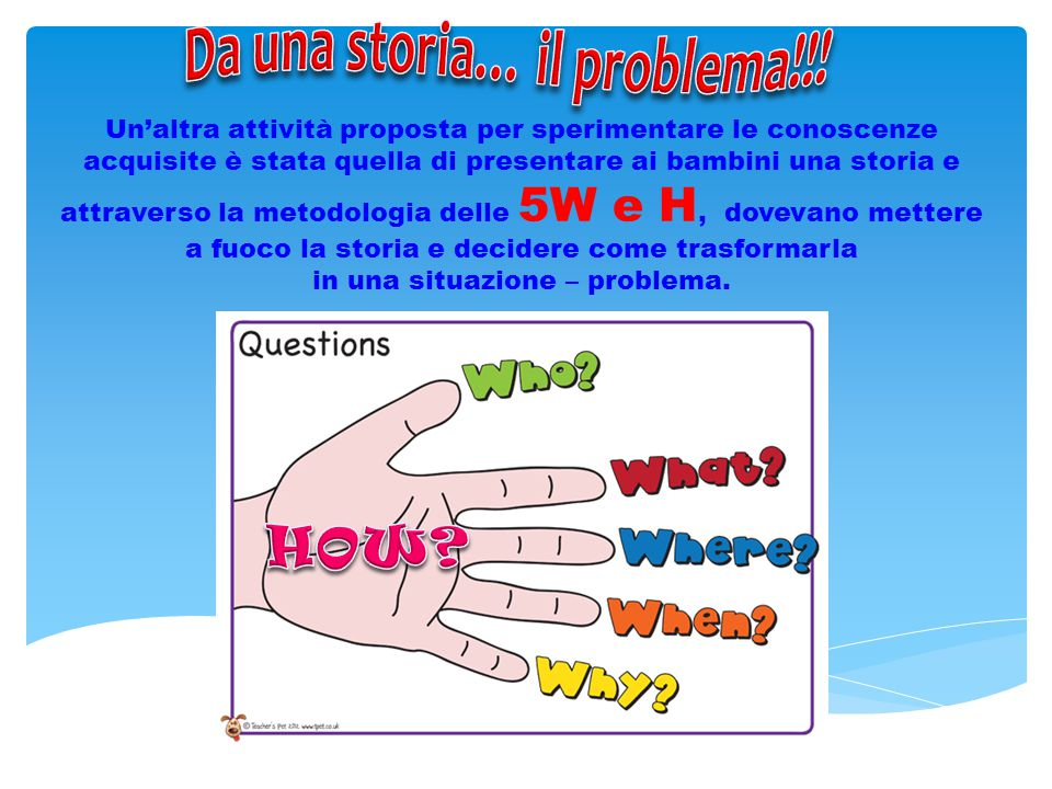 Da una storia… il problema!!!