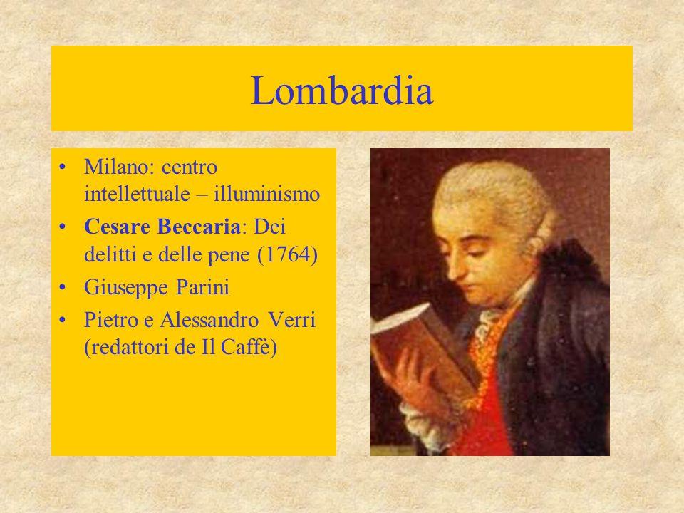 Lombardia Milano: centro intellettuale – illuminismo