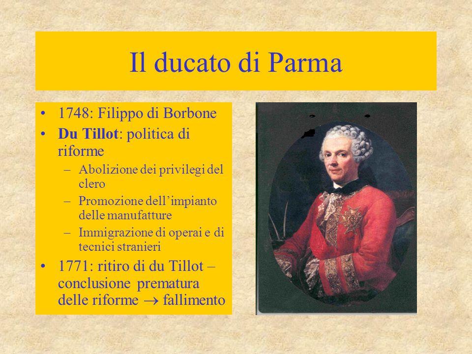 Il ducato di Parma 1748: Filippo di Borbone