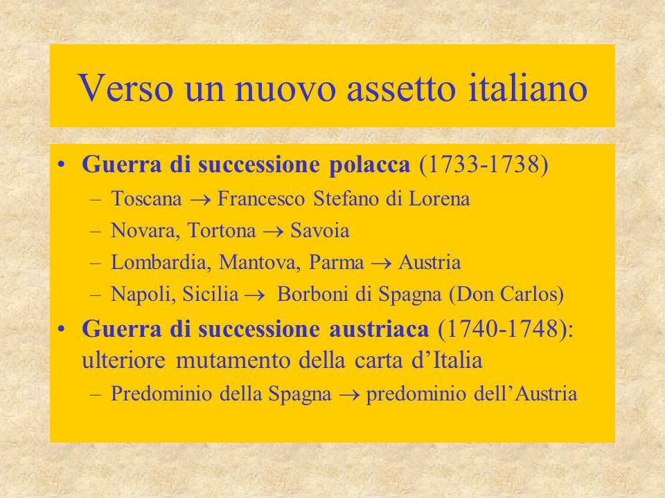 Verso un nuovo assetto italiano