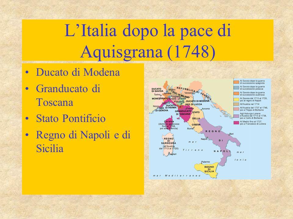 L'Italia dopo la pace di Aquisgrana (1748)