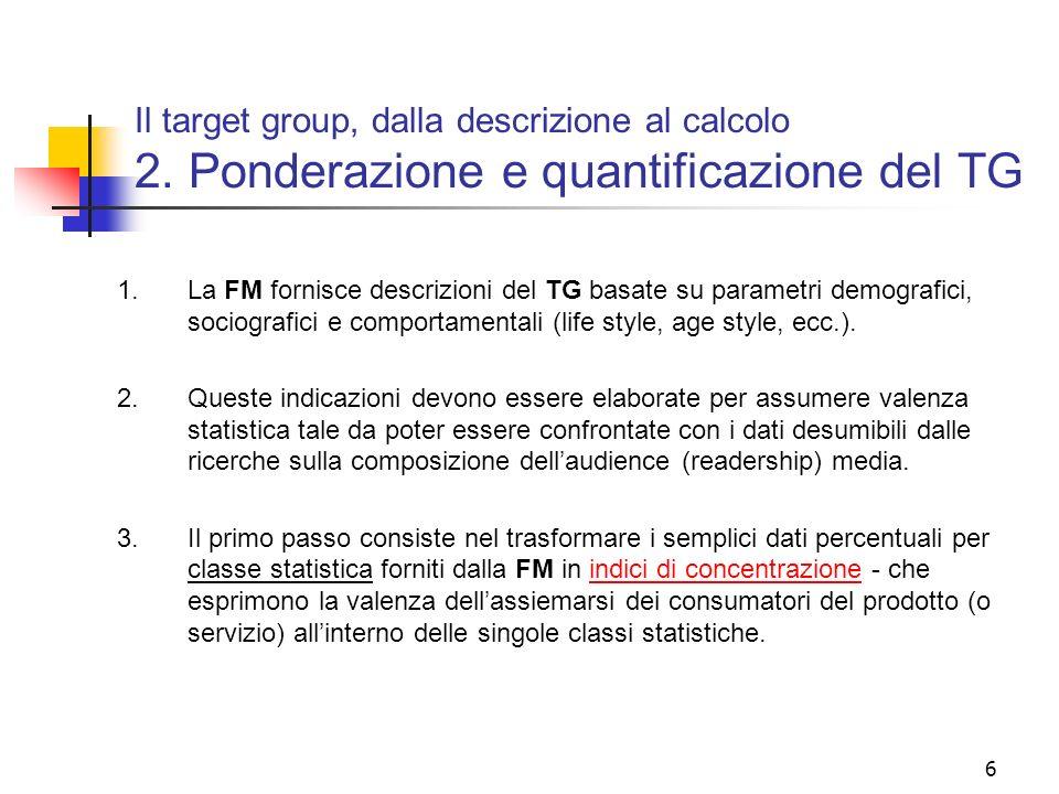 Il target group, dalla descrizione al calcolo 2