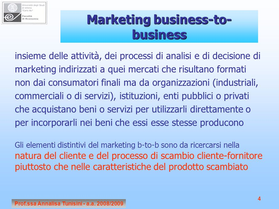 Marketing business-to-business