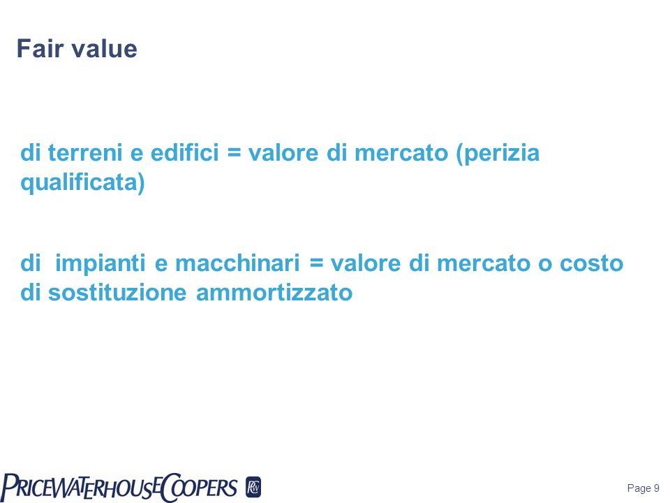 Fair valuedi terreni e edifici = valore di mercato (perizia qualificata)