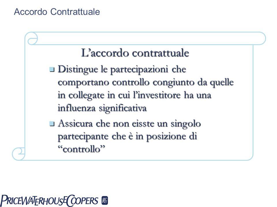 L'accordo contrattuale
