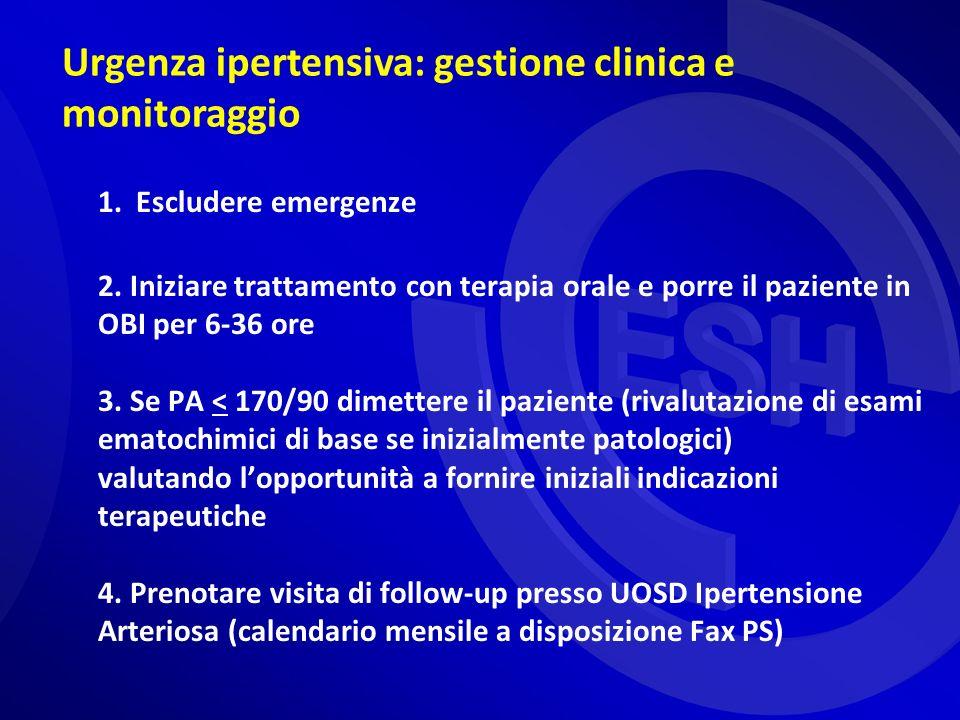 Urgenza ipertensiva: gestione clinica e monitoraggio