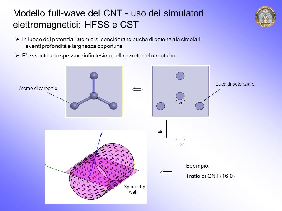 Modello full-wave del CNT - uso dei simulatori