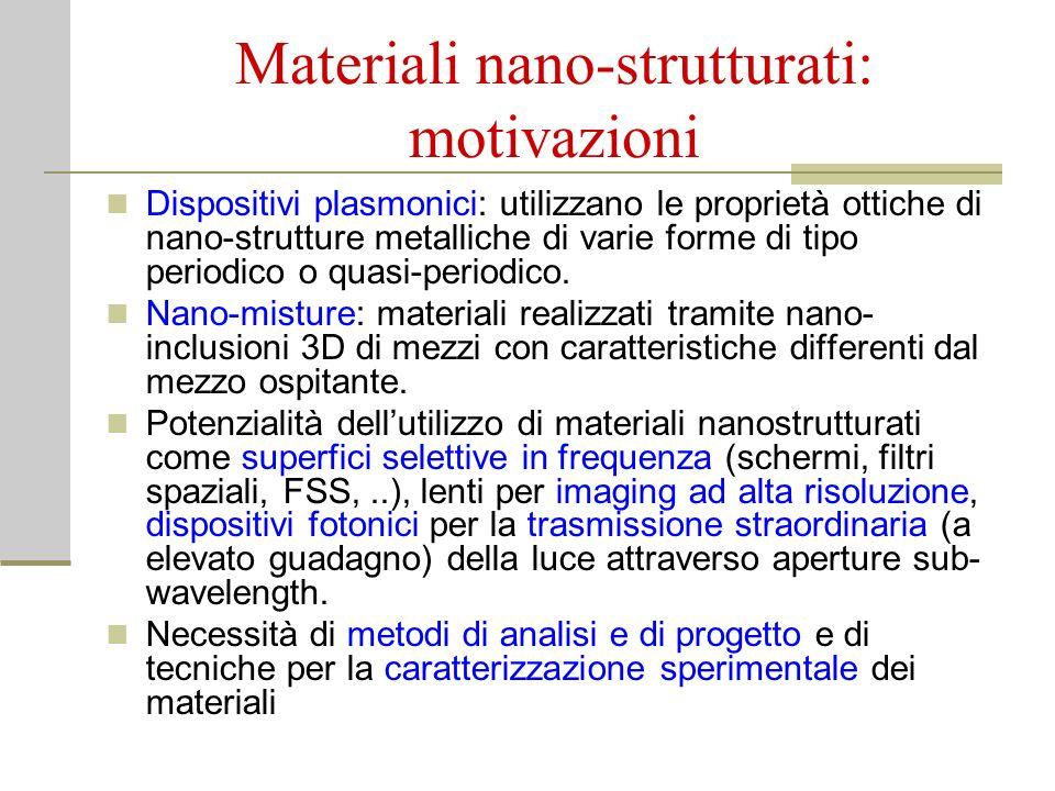 Materiali nano-strutturati: motivazioni
