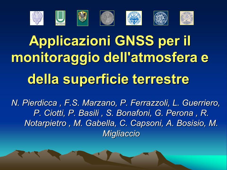 Applicazioni GNSS per il monitoraggio dell atmosfera e della superficie terrestre