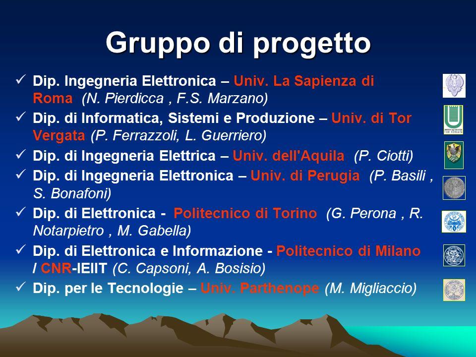 Gruppo di progetto Dip. Ingegneria Elettronica – Univ. La Sapienza di Roma (N. Pierdicca , F.S. Marzano)
