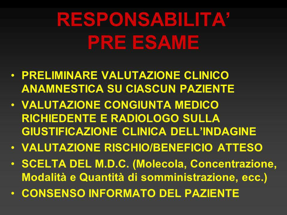 RESPONSABILITA' PRE ESAME