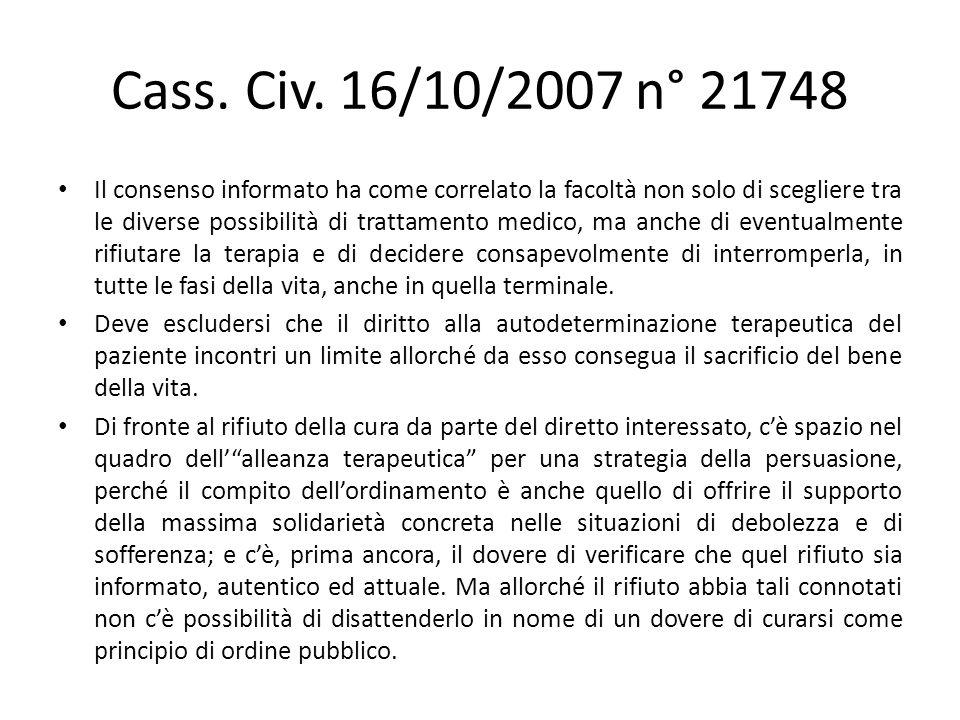 Cass. Civ. 16/10/2007 n° 21748