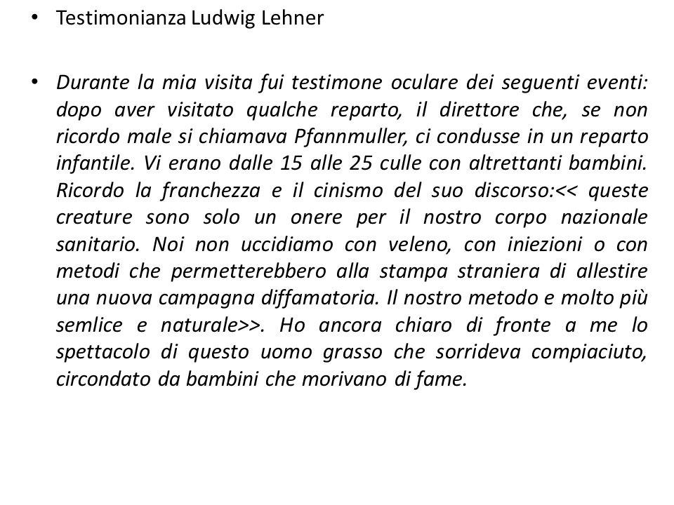 Testimonianza Ludwig Lehner