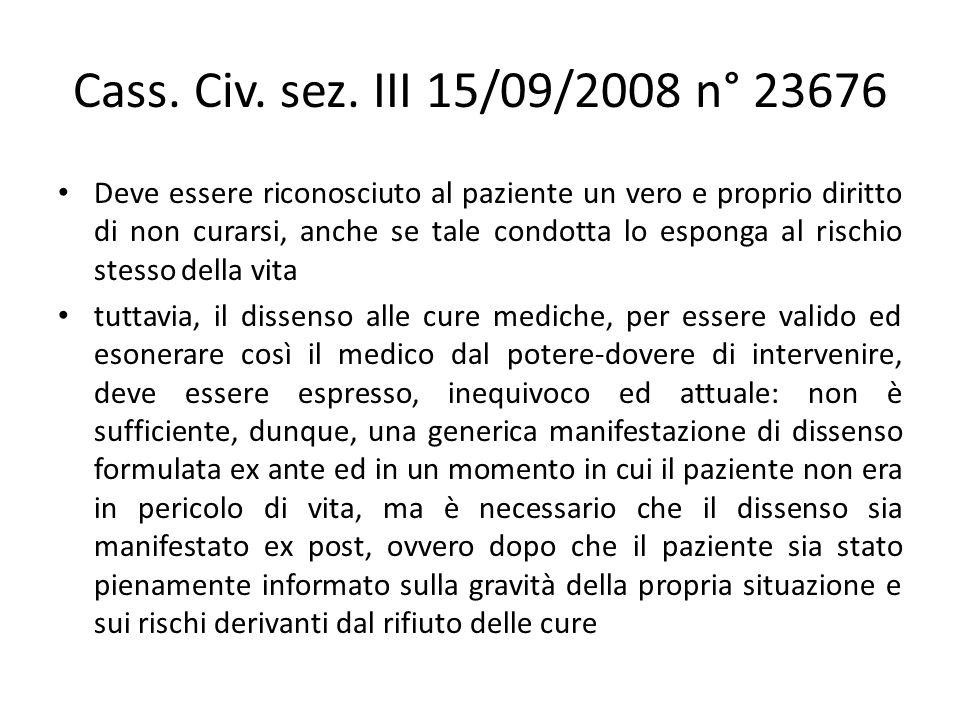 Cass. Civ. sez. III 15/09/2008 n° 23676