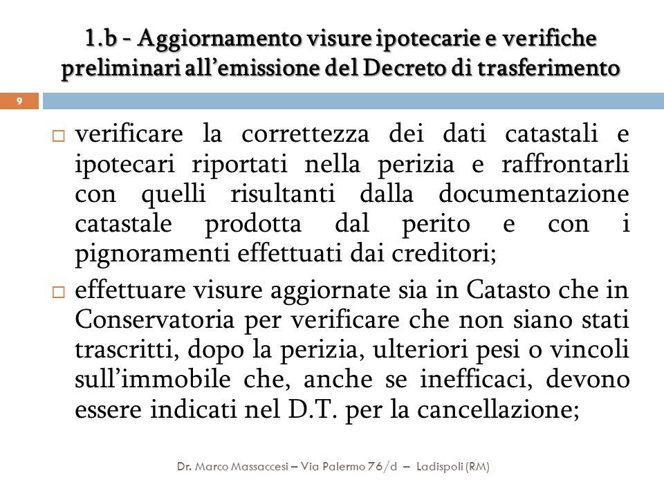 Dr. Marco Massaccesi – Via Palermo 76/d – Ladispoli (RM)