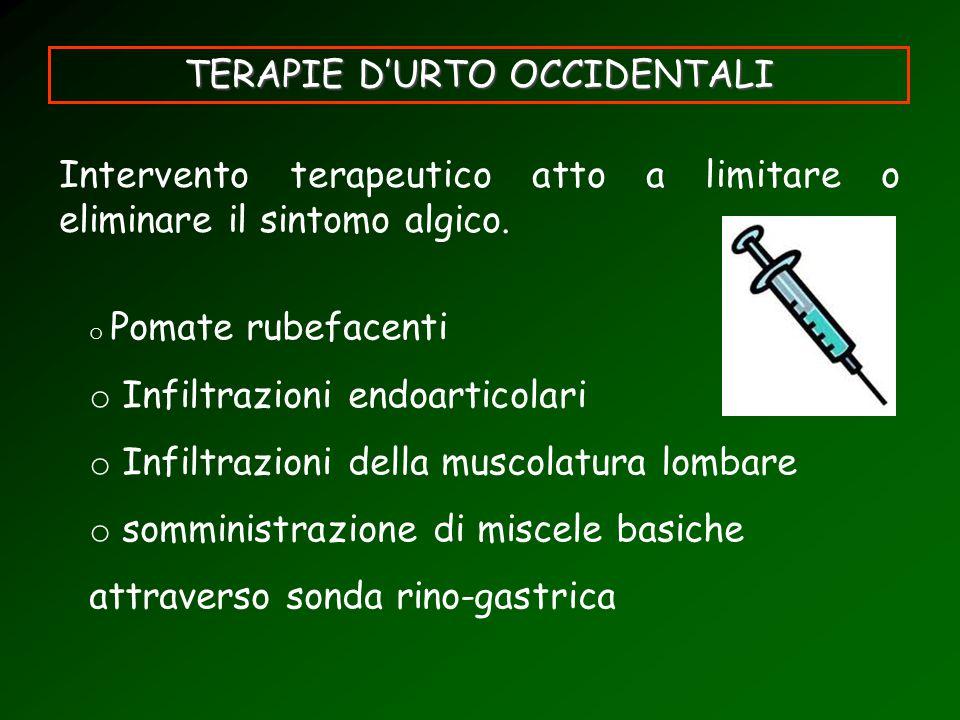 TERAPIE D'URTO OCCIDENTALI