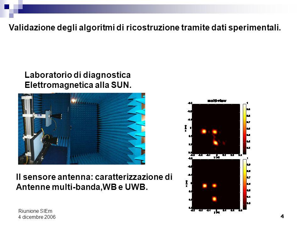 Laboratorio di diagnostica Elettromagnetica alla SUN.