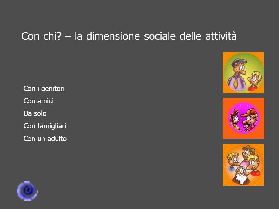 Con chi – la dimensione sociale delle attività