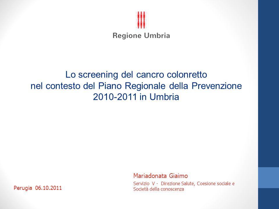Lo screening del cancro colonretto