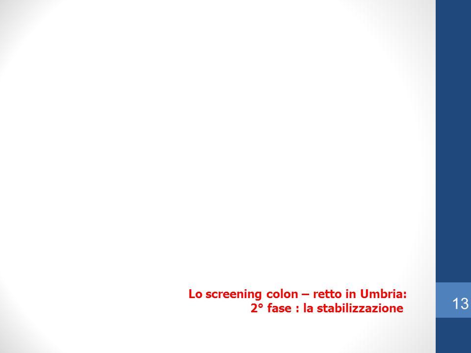Lo screening colon – retto in Umbria: