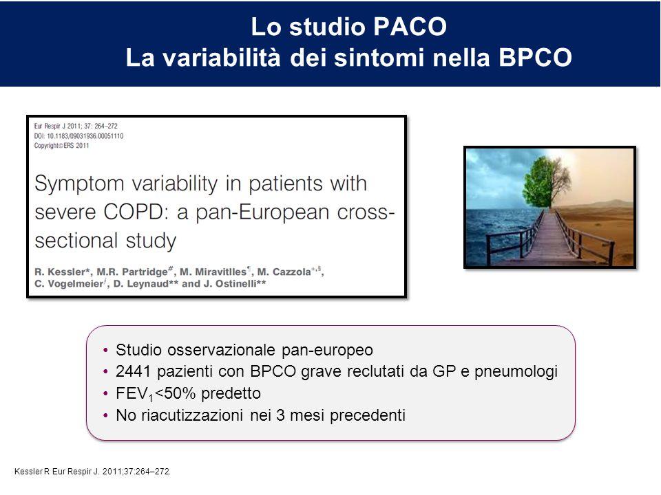 Lo studio PACO La variabilità dei sintomi nella BPCO