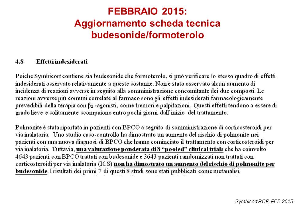 FEBBRAIO 2015: Aggiornamento scheda tecnica budesonide/formoterolo