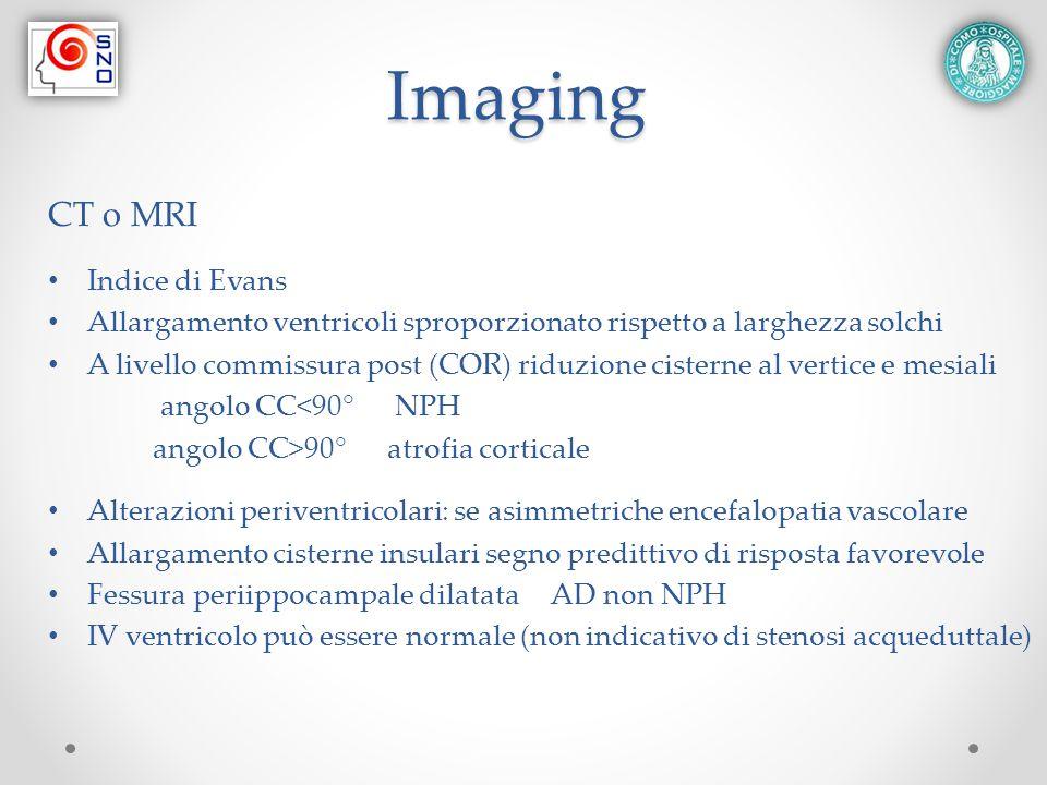 Imaging CT o MRI Indice di Evans