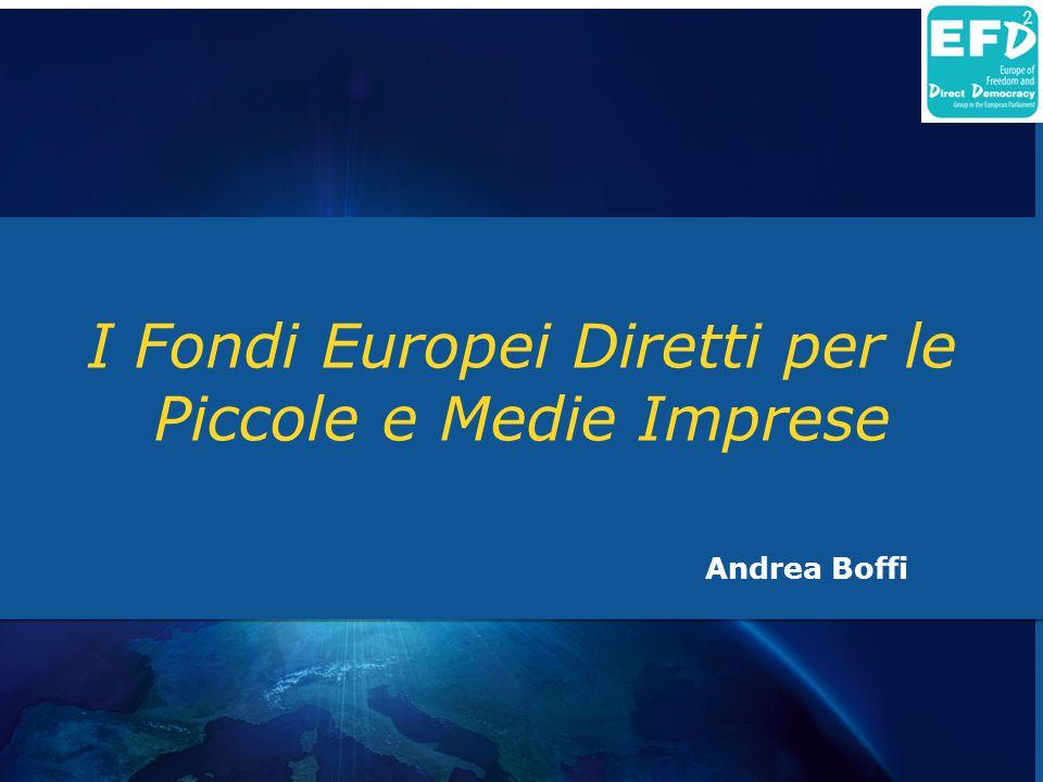 I Fondi Europei Diretti per le Piccole e Medie Imprese