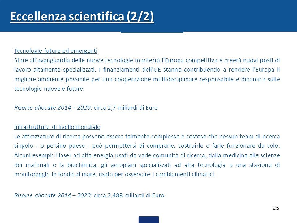 Eccellenza scientifica (2/2)