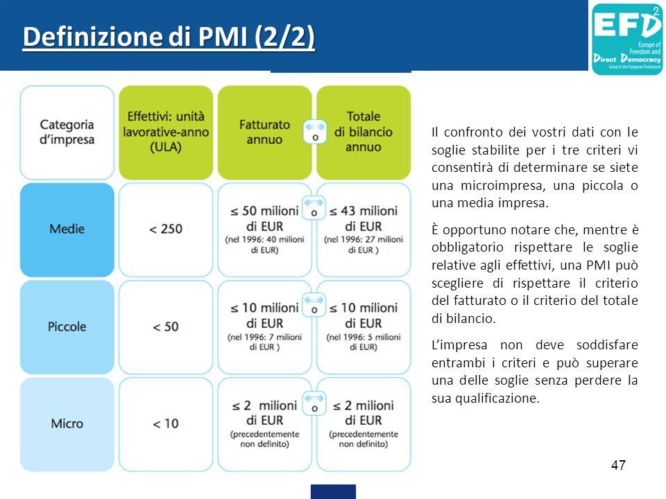 Definizione di PMI (2/2)