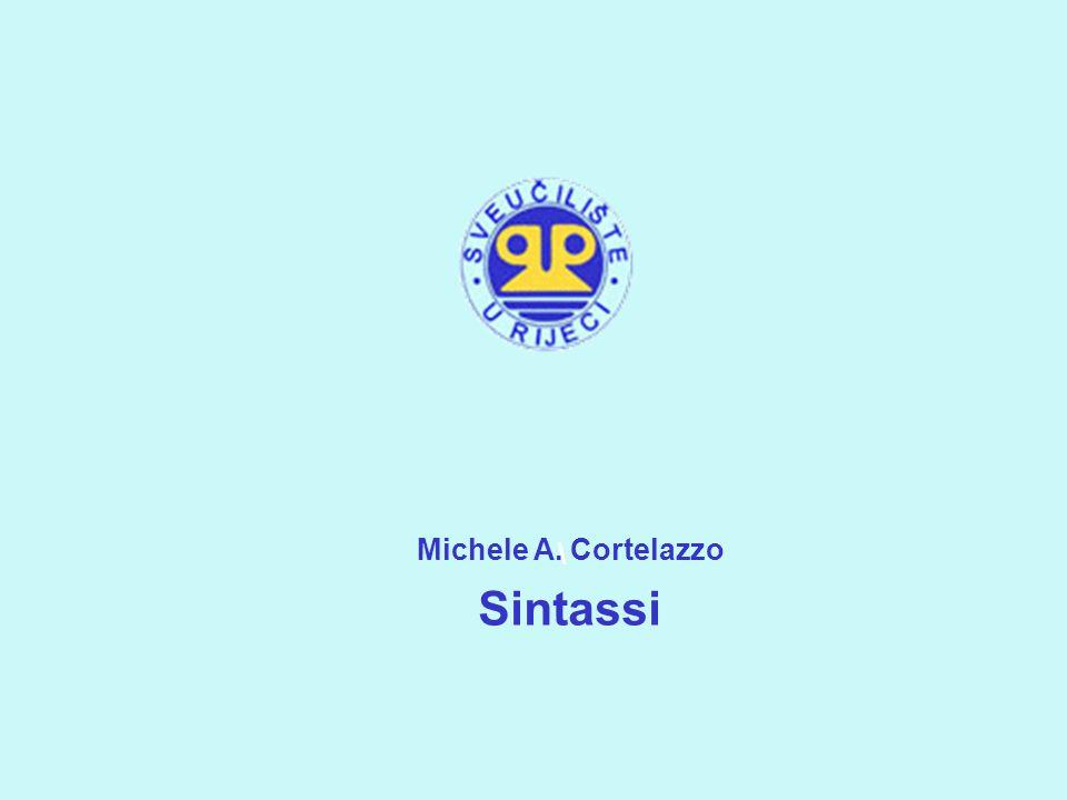 Michele A. Cortelazzo Sintassi \ 1