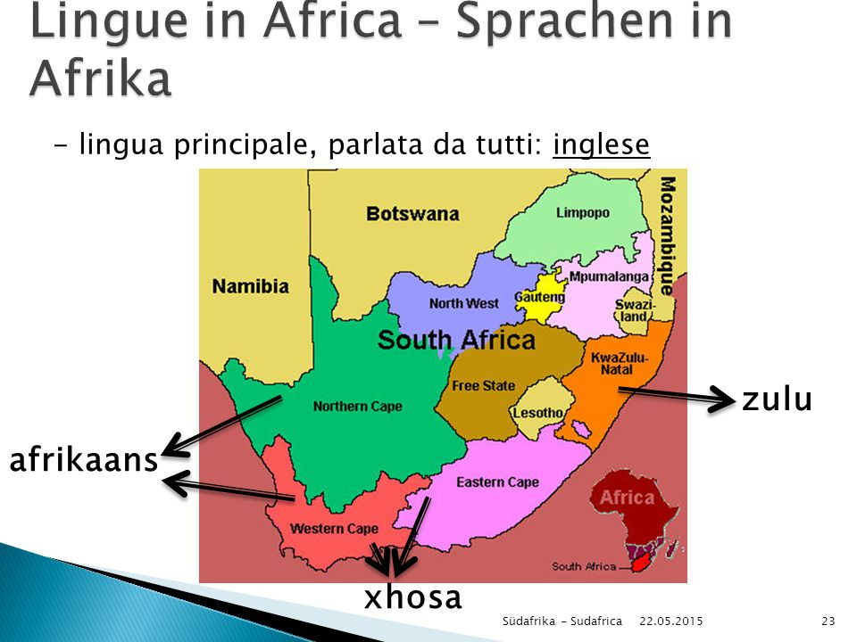Lingue in Africa – Sprachen in Afrika