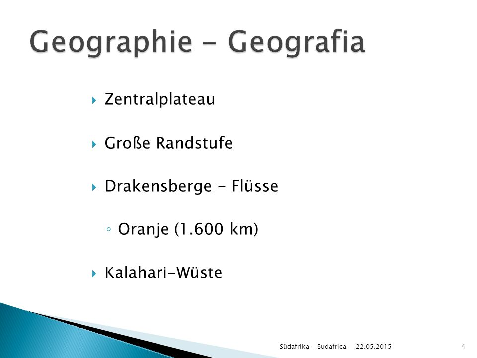 Geographie - Geografia