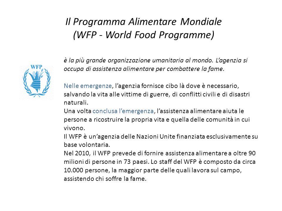 Il Programma Alimentare Mondiale (WFP - World Food Programme)