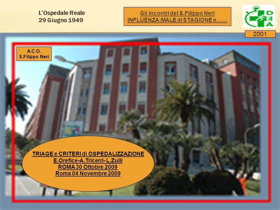 L'Ospedale Reale 29 Giugno 1949