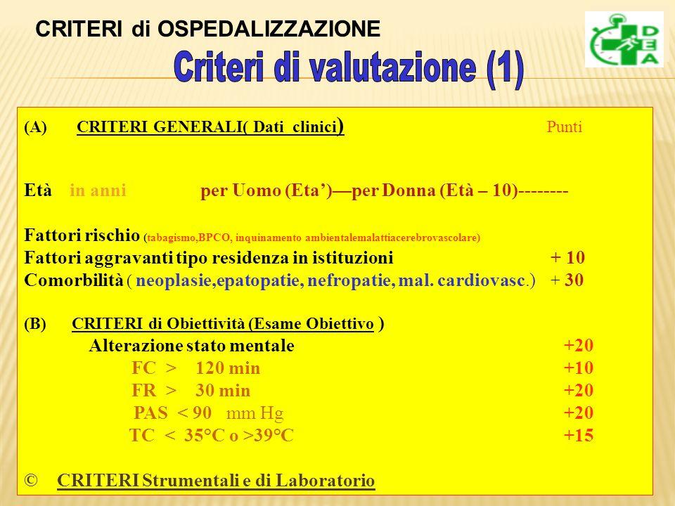 Criteri di valutazione (1)