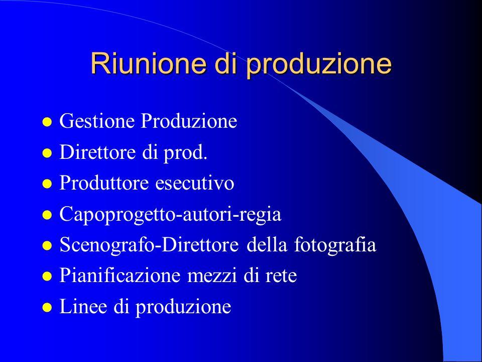 Riunione di produzione