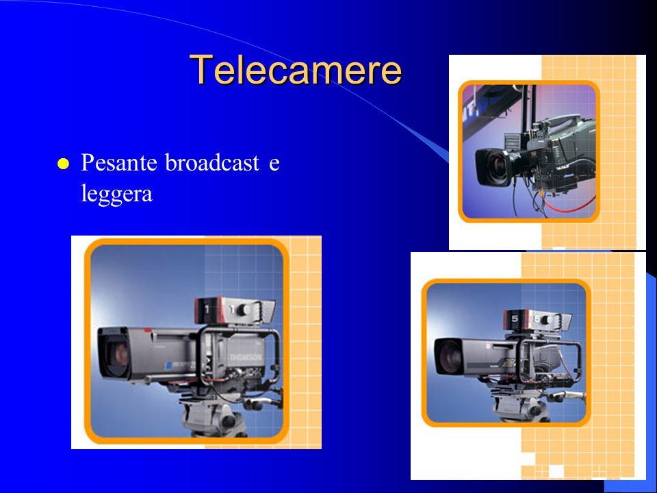 Telecamere Pesante broadcast e leggera