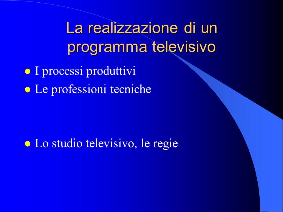 La realizzazione di un programma televisivo