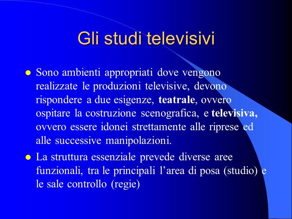 Gli studi televisivi