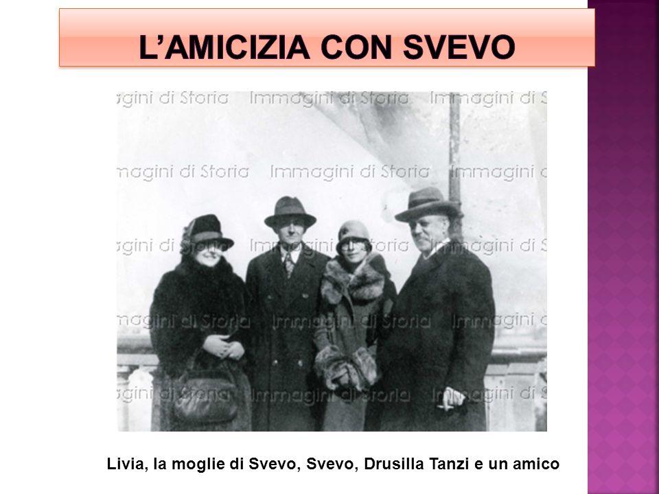 Livia, la moglie di Svevo, Svevo, Drusilla Tanzi e un amico
